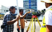 Hydrographic surveying in Fiji