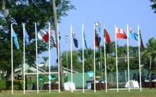 Pacific flags at PIDF, 2013