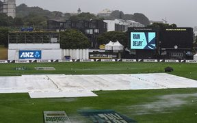 Wet weather delays the start of the second cricket test between New Zealand and Bangladesh at the Basin Reserve in Wellington.