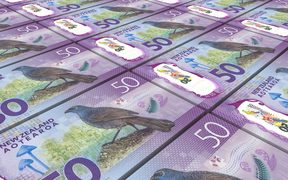 73045982 - new zealand dollar bills stacked background. 3d illustration.