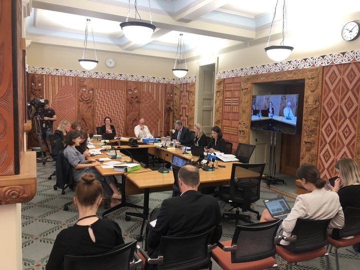 The Environment Select Committee during a briefing on reducing food waste in New Zealand.