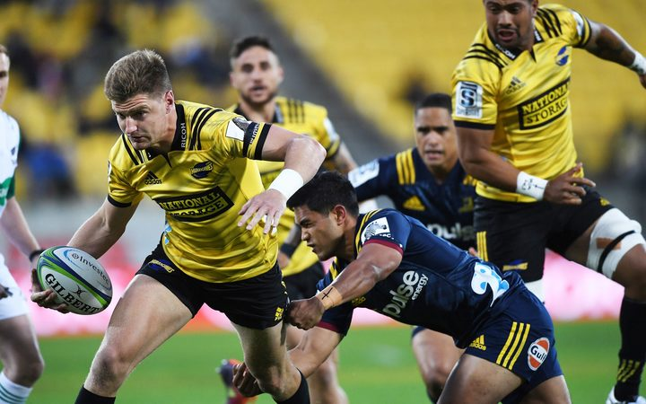 Jordie Barrett in action for the Hurricanes.