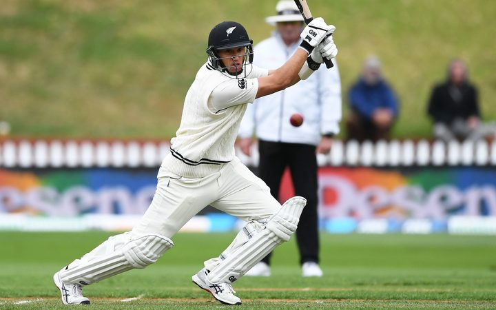 Ross Taylor batting. New Zealand Black Caps v Bangladesh.