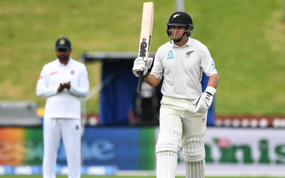 Ross Taylor during day four of the second Test between the Black Caps and Bangladesh.