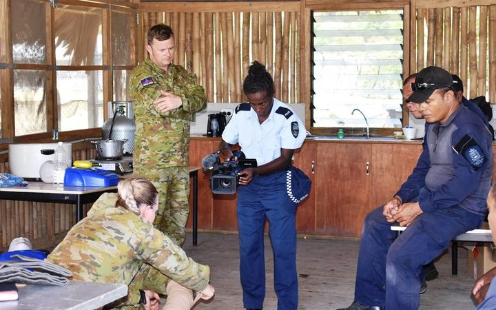 Australian Defence Force providing media and first aid training to Solomons police.