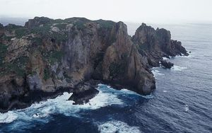 Curtis Island in the Kermadec Islands.