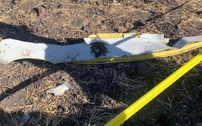 Wreckage from the Ethiopian Airlines plane.