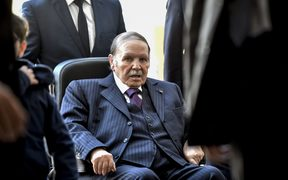 Algerian President Abdelaziz Bouteflika pictured in November 2107 at a polling station in Algiers during local elections.
