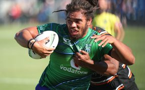 New Zealand Warriors Isaiah Papali'i of the Warriors in the NRL