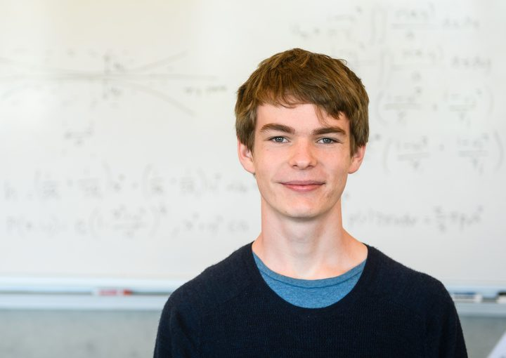 Finnegan Messerli, from Onslow College, has won the 2018 Prime Minister's Future Scientist Prize.