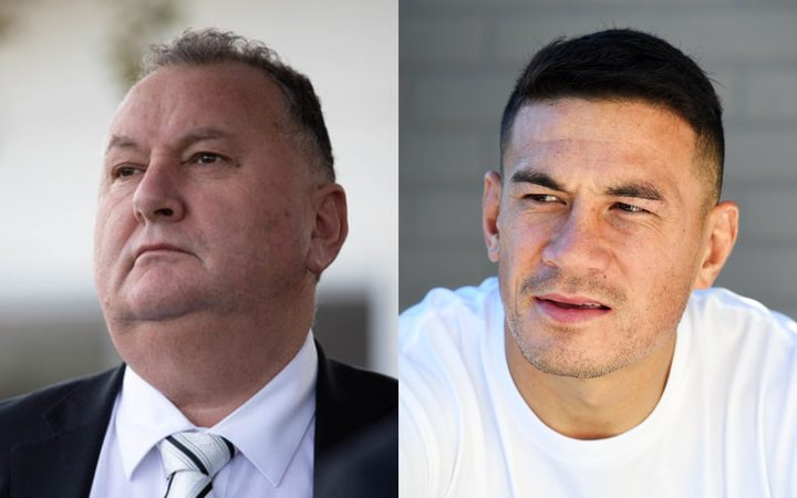 Minister Shane Jones and rugby player Sonny Bill Williams.