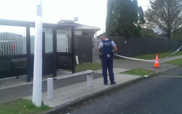 Police taped off an area near the second attack in South Auckland.