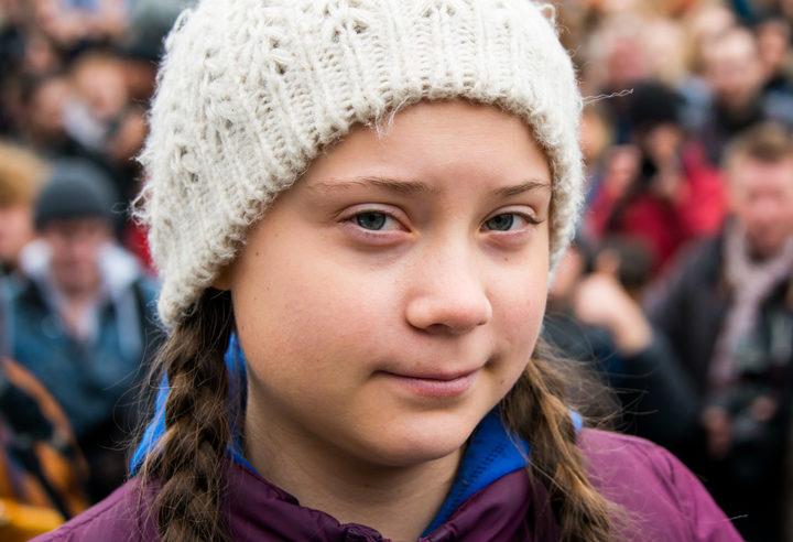 Greta Thunberg at a rally in Hamburg, Germany.