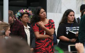 Pacific Islands concerns took centre stage at the march on New Zealand's parliament, demanding climate change action. 15 March 2019