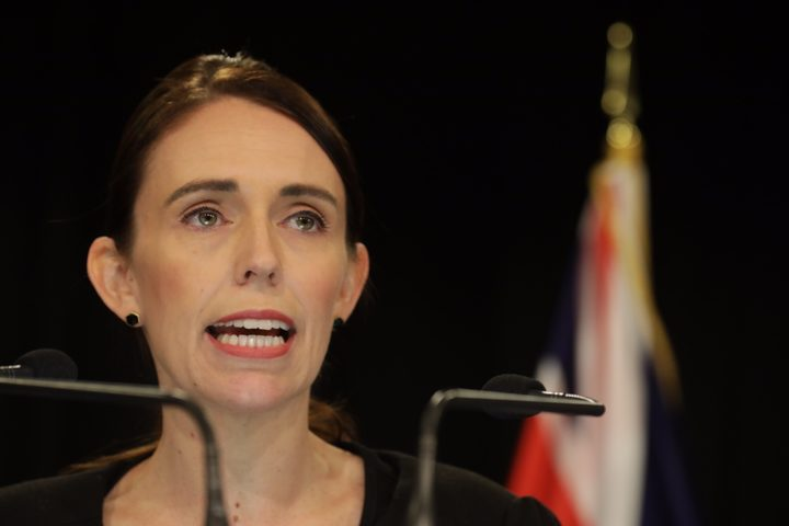Prime Minister Jacinda Ardern gives a statement on Saturday 16 March