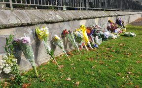 The Botanic Wall garden on Rolleston Ave has been made available for floral tributes