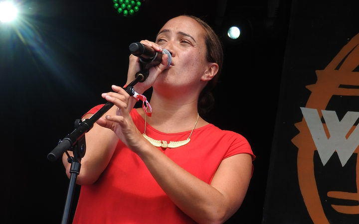 Ria Hall dedicated two of her songs to the people of Christchurch.