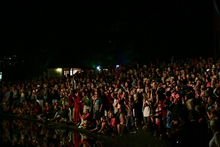 WOMAD crowd at the waters edge