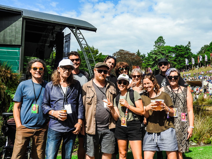 The RNZ Music crew at WOMAD 2019