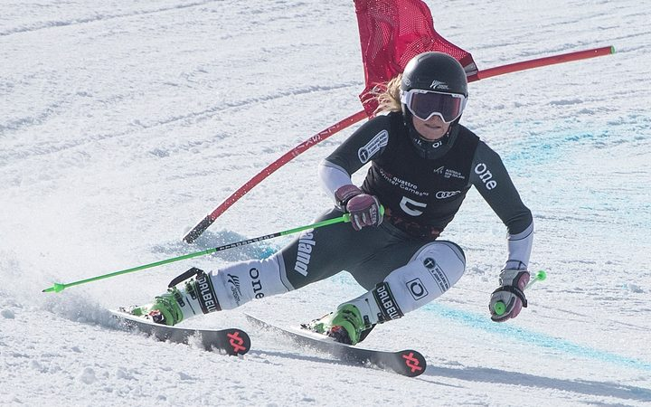Alice Robinson wins the Giant Slalom race during the Winter Games at Coronet Peak in August last year.