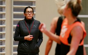 Silver Ferns coach Noeline Taurua at Silver Ferns training