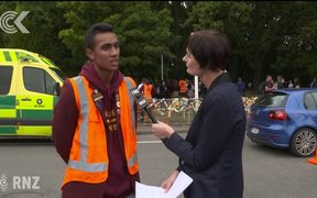 Christchurch students pay respects to mosque victims