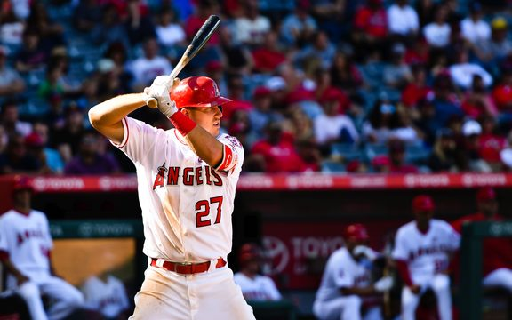 Los Angeles Angeles baseball player Mike Trout.