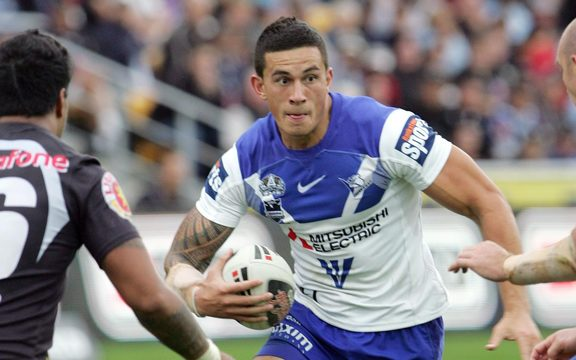 Sonny Bill Williams playing for the Bulldogs in 2008.