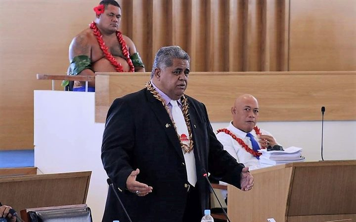 Laaulialemalietoa Leuatea speaks in first session of Samoa Parliament at the new Parliament House on 19 March 2019
