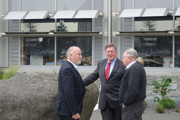 DAM CRITICS: Councillors (L-R) Rex Graham, Rick Barker and Tom Belford have been leading critics of the Ruataniwha Dam process.
