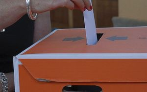 voting box.