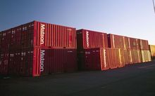 Shipping containers at Port of Tauranga.