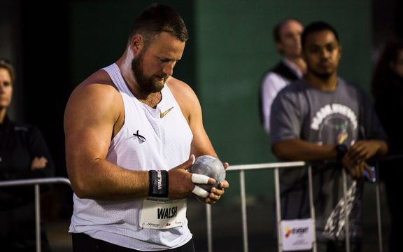 Tom Walsh in the Shot Put at the Sir Graeme Douglas International Track Challenge. 21 March 2019. Auckland, New Zealand. Copyright photo: Alisha Lovrich / www.photosport.nz