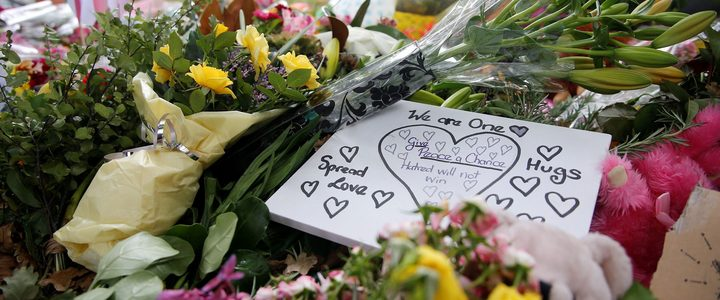 CHRISTCHURCH, NEW ZEALAND - MARCH 18: Flowers are laid outside Al Noor Mosque in Christchurch, New Zealand. At least 50 people were reported killed and 50 others injured in twin terror attacks targeting Al Noor and Linwood mosques in Christchurch.