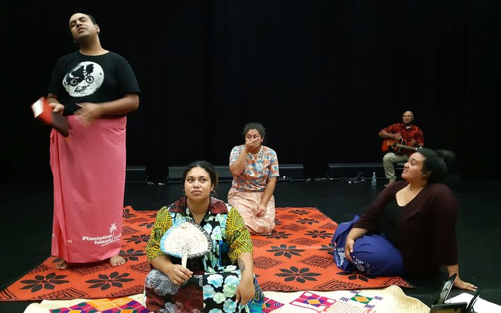 The cast of Au Ko Tuvalu in rehearsal