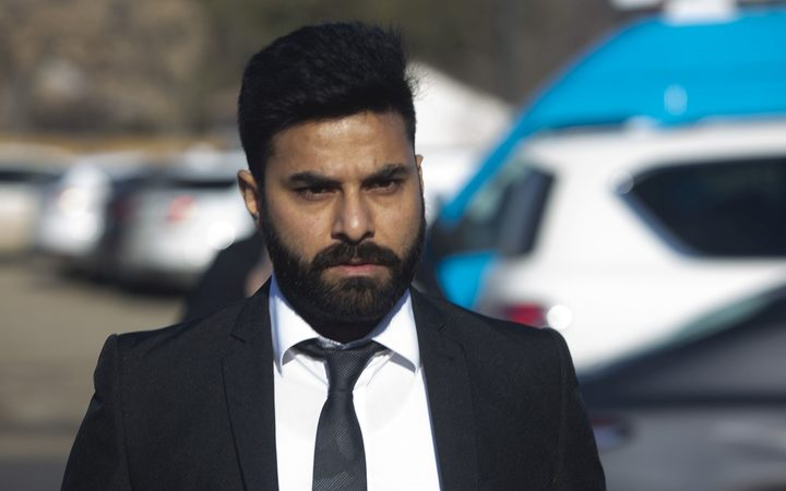 Jaskirat Singh Sidhu arrives for his sentencing hearing in Melfort, Saskatchewan., Friday, March, 22, 2019.  Sidhu, of Calgary, the driver of a transport truck involved in a bus crash that killed 16 people with the Humboldt Broncos junior hockey team in Canada last year,