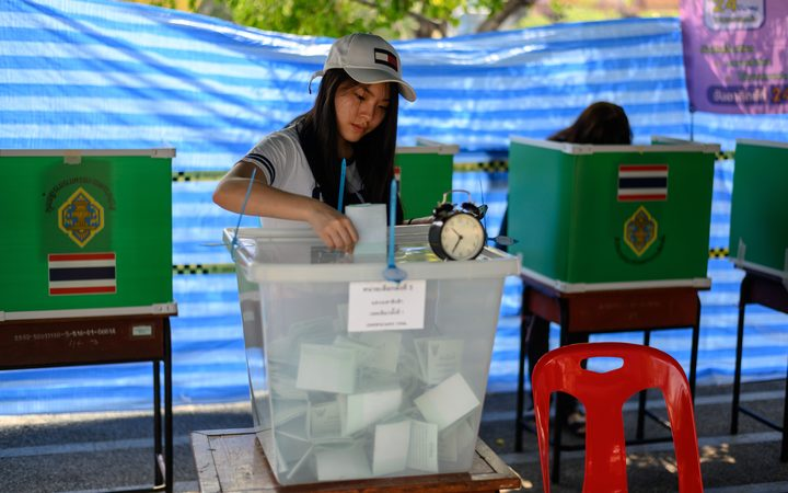 Thai dictator tightens grip on power as military-backed party leads polls