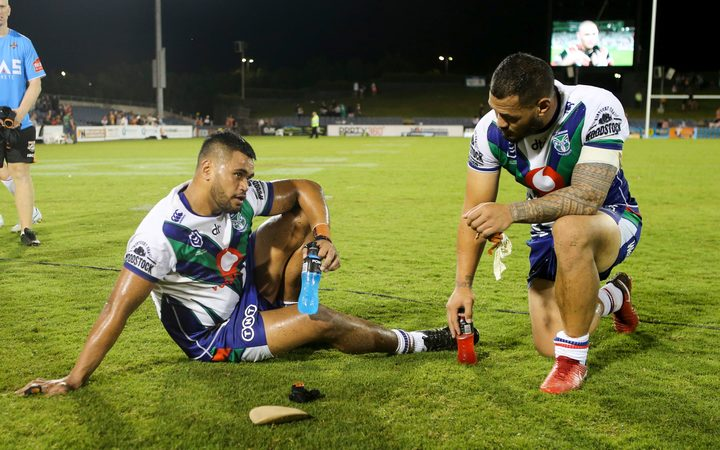 Warriors players looking dejected after they lose to the Tigers. 2019.