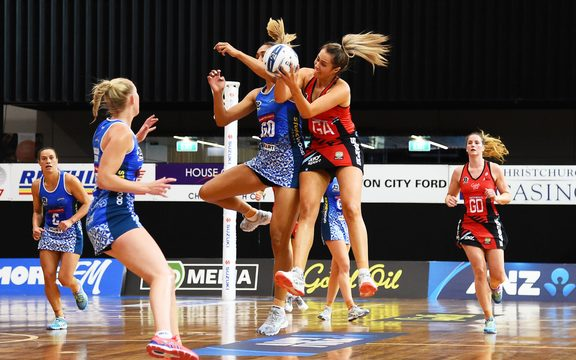 Tactix player Brooke Leaver during their ANZ Premiership Netball match.