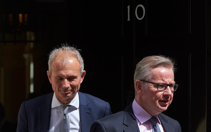 (File photo) David Lidington and Michael Gove leaving Downing Street, July 2017,