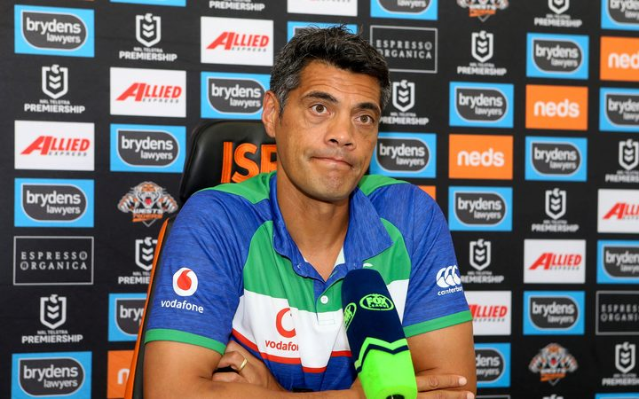 Stephen Kearney looking dejected at the post match press conference.