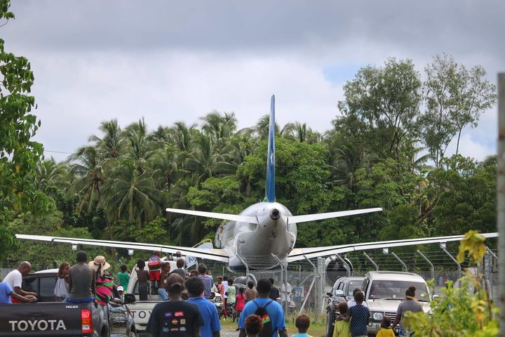 Solomon Airlines Airbus A320 at Munda, Solomon Islands