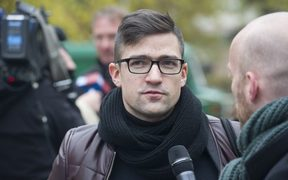Martin Sellner, leader of the right-wing populist Identitarian movement of Austria.