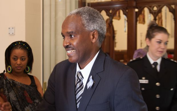 Charles Murigande during a visit to New Zealand.
