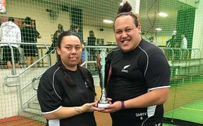 NZ Men's netball assistant coach Tania Anderson (left) & co-coach Sarah Michelle Hansen-Vaea (right)