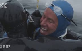 Freediver Ant Williams breaks sub zero diving record