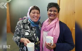 Whanganui locals gather to watch service together