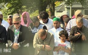 Symbolic friday prayers in Hagley Park