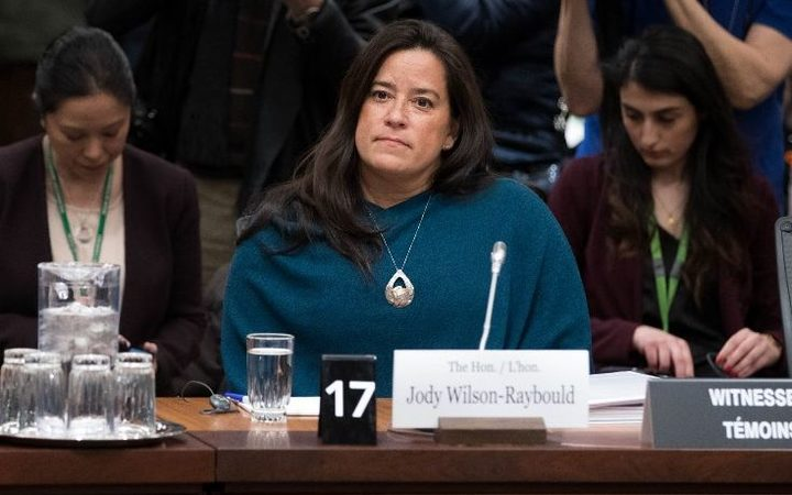 (FILES) In this file photo taken on February 27, 2019 Former Canadian Justice Minister Jody Wilson-Raybould arrives )