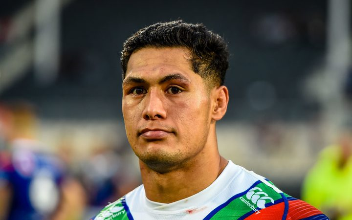 A dejected Warriors captain Roger Tuivasa-Sheck.